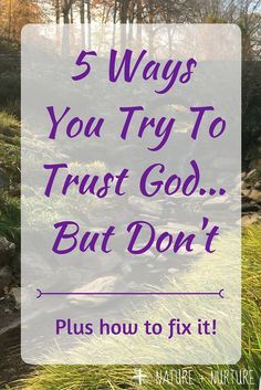 Trusting God can be tough. Let's look at five ways we as humans try to trust God in our lives… but come up short. Then, we'll look at some solutions to these pitfalls.