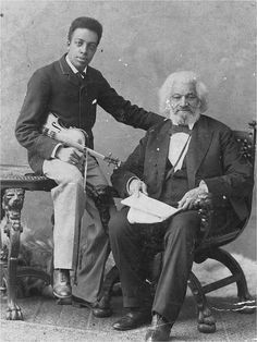 """The great American abolitionist Frederick Douglass and his grandson, Joseph."" Photo: Avery Research Center for African American History and Culture Black History Month, Black History Facts, African American History, World History, British History, American Women, Native American, Black Art, Frederick Douglass"