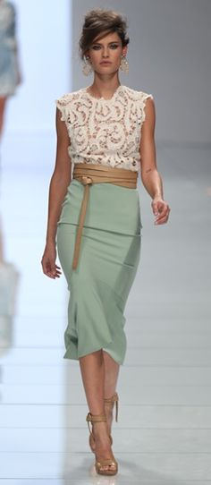 Too slinky to be truly modest but I love the pieces together ~ wow!  So feminine and beautiful.