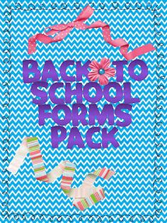 Kindergarten Lifestyle - FREE forms for Back to School....