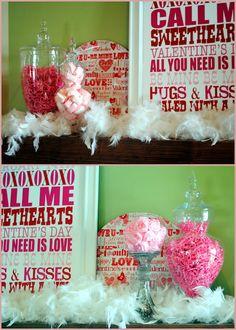 Cute valentine's day decor