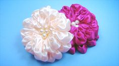 Satin Ribbon Flower Tutorial