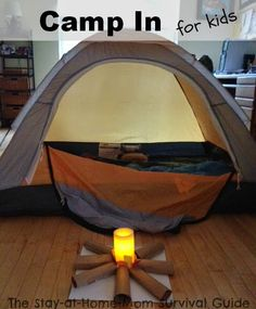 Indoor camping ideas for kids on bad weather days from The Stay-at-Home-Mom Survival Guide