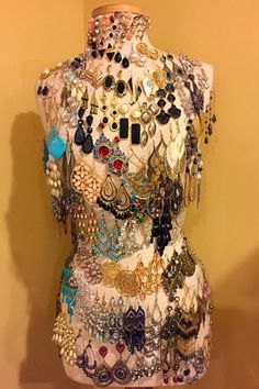 Mannequin jewelry holder. A cute and fun way to display earrings.
