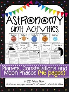 Astronomy - Unit Activities and Posters - Planets, $