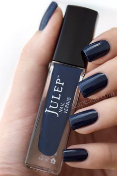 Julep nail vernis so ver gorgeous in navy blue. Top quality nail polish brands to ask for at your next salon visit. Navy Nail Polish, Navy Nails, Nails Polish, Nail Polish Colors, Julep Nail Polish, Blue Nail, Black Nails, Fabulous Nails, Gorgeous Nails