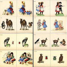 Stereocards / Steroskopenbilder fur Schielende (strabismus) by Hegg 1899 First Edition  - click to enlarge.