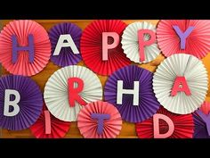 Apr 2019 - Birthday Decoration Ideas at Home/ DIY Easy Party Home Decorations Diy Party Crafts, Easy Paper Crafts, Craft Party, Wedding Crafts, Diy Paper, Diy Wedding, Simple Birthday Decorations, Paper Decorations, Diwali Decorations