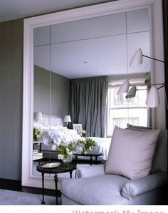 love the grey and the mirror