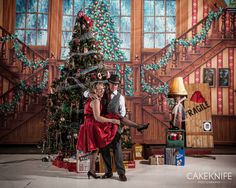 Event photographer Marla Rutherford from CakeKnife Photography always photographs the 1940's Winter ball in Colorado every year. A studio is built. Fashion abounds at this unique event. http://www.1940sball.com/White_Christmas_Ball