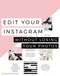 I LOVE Instagram and I bet you do too! It's so tempting to post everything on there, hey. I totally understand! But truly successful and efficient Instagrams need to be edited. Click through to find out why. + I will tell you my secret method of doing this without losing your photos! Win Win! #instagram #branding #brand michigan programmatic search