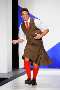 And wearing kilts, because of course, he's Scottish, every person from Scotland is always wearing kilts. Haha