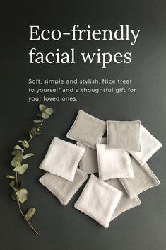 Set Of 8 Reusable Bamboo Cotton Facial Pads Discovery