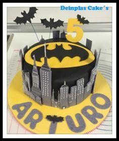 Bat Tarta o tarta fondant Batman