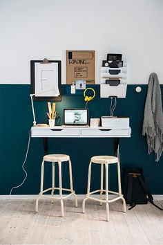 A homework station isn't complete without good lighting! The IKEA RIGGAD LED work lamp with wireless charging provides direct light that is great for reading - and it doubles as a wireless charger for your smartphone!