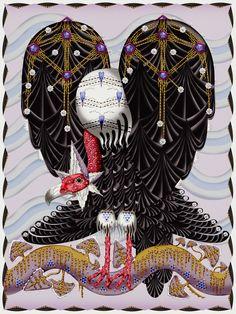 Vulture Rug by Klaus Haapaniemi