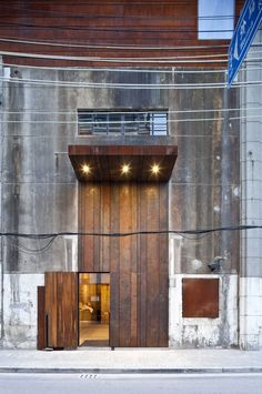 dramatic arrivals that are unexpected along facades that can be boring.  Use of steel and wood.