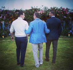 Mais uma foto do casamento de #GuyRitchie #HenryCavill e #DavidBeckham