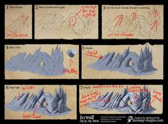 Step-by-Step Tutorial - Ice wall symbol by Djekspek map cartography painting drawing resource tool how to tutorial instructions | Create your own roleplaying game material w/ RPG Bard: www.rpgbard.com | Writing inspiration for Dungeons and Dragons DND D&D Pathfinder PFRPG Warhammer 40k Star Wars Shadowrun Call of Cthulhu Lord of the Rings LoTR + d20 fantasy science fiction scifi horror design | Not Trusty Sword art: click artwork for source