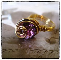 Purple and Gold swirl!