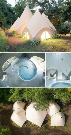 Japanese Architect Created An Unique Forest House For 2 Retired Ladies - house architecture Modern Japanese Architecture, Unique Architecture, Futuristic Architecture, Sustainable Architecture, Landscape Architecture, Interior Architecture, Japanese Modern, Ancient Architecture, Chinese Architecture