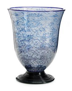 Edward Hald (Swedish, 1883-1980), Orrefors, Graal Glass Vase.