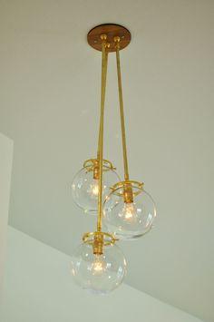 Classy Brass & Glass Globe Pendant Chandelier SRN - Check for lighting. Classy Brass & Glass Globe P Pendant Chandelier, Globe Pendant, Chandelier Lighting, Chandeliers, Installing Light Fixture, Shower Jets, Modern Luxury Bathroom, Wooden Canopy, Glass Globe