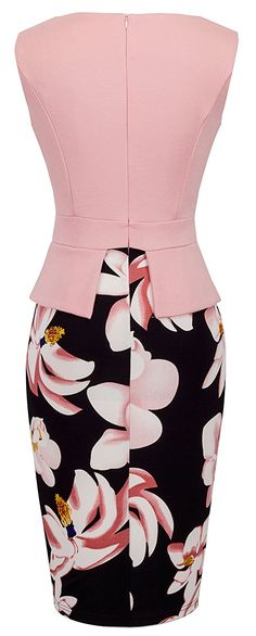 Homeyee Women's Elegant Chic Bodycon Formal Dress B288 (L, Light Pink) at Amazon Women's Clothing store: