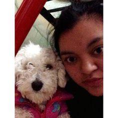 Selfie con mi beba Pelusa