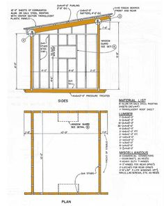10x12 Lean To Storage Shed Plans Details