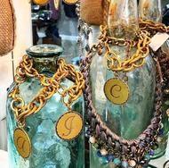 Sorority Gal Initial Bracelet - A / Gold