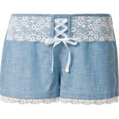 Denim and Lace Shorts - Intimissimi