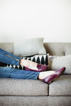 leather teddy loafers, rich plum | madewell.