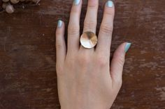 Ilsa Loves Rick Full Moon Ring 14k Gold Filled. Available at www.victoireboutique.com