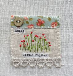 Handmade in Cornwall by M Stephens Artist  Hand embroidery and vintage button picture