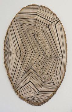 Jason Middlebrook painted tree/trunk slice