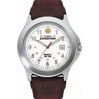 d1fe7bcb9723 Timex Men s Expedition Metal Field Brown Leather Strap Watch Sport Watches