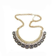 Vintage-Statement-Bubble-Bib-Chunky-Collar-Party-Jewelry-Pendant-Chain-Necklace