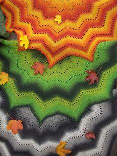 Ravelry: Revontuli -huivi/Northern Lights pattern by AnneM