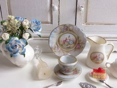 Royal Vienna Lovers Teacup and Saucer for by Twelvetimesmoreteeny, €2.40