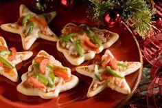 Pizzas estrellas navidad