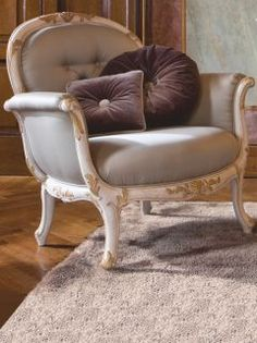 Divine in any setting, the Louis collection Venetian armchair is carved from solid wood to world class standard. French Furniture, Luxury Furniture, Vintage Opulence, Fabric Armchairs, Bedroom Chair, Living Room Inspiration, Down Pillows, Dream Bedroom, Furniture Collection