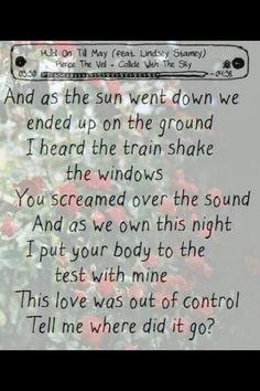 Hold on till may -Pierce The Veil. One of my favorite songs. Ptv Lyrics, Pierce The Veil Lyrics, Music Lyrics, I Love Music, Music Is Life, Love Songs, Good Music, Band Quotes, Lyric Quotes