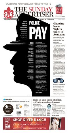 The Daily Advertiser 12/6/15 via Newseum