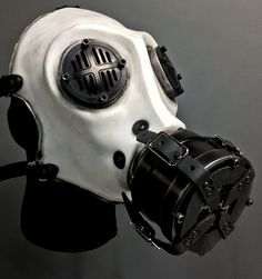 Items similar to Gas Mask - War - White on Etsy Gas Mask Tattoo, Rave Mask, Apocalyptic Fashion, Post Apocalyptic, Steampunk Mask, Airsoft Mask, Maskcara Beauty, Half Face Mask, Masks Art