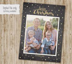 Weihnachtskarte, Foto-Weihnachtskarte, Tafel Weihnachtskarte, Glitter Weihnachtskarte, Weihnachtskarte, DIY druckbare Weihnachtskarte