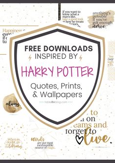 Hogwarts 10 Marvelously Magical Harry Potter Quotes (+ Free Printable Decor & Phone Backgrounds) Out Harry Potter English, École Harry Potter, Harry Potter Planner, Harry Potter Nursery, Harry Potter Classroom, Harry Potter Printables, Harry Potter Birthday, Potter School, Harry Potter Pictures