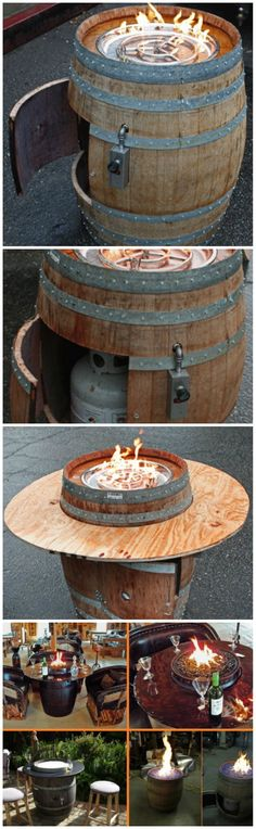 How To Build Wine Barrrel Fire Pit