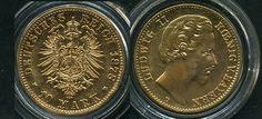 Bavaria: 10Mk. Ludwig II. 1878D, gold, with certificate German Münzgesellschaft, very fine / extremly fine    Dealer  Mirko Franke Auktion    Auction  Minimum Bid:  140.00EUR