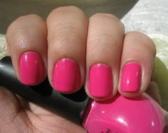 Nicole by OPI All Kendall-ed Up. A pretty hot-pink nail polish.